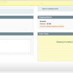 magento place order backend shipping method