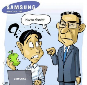 Samsung Apple you're fired!