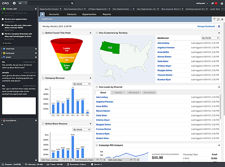 OroCRM Dashboard image